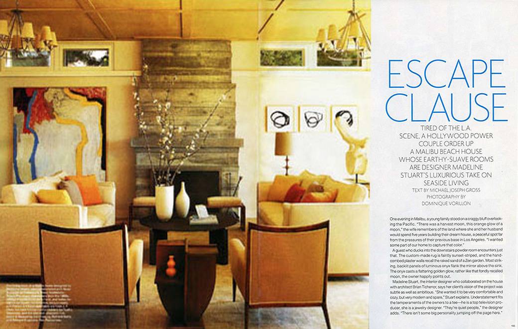 Elle Decor Escape Clause July/August 2007