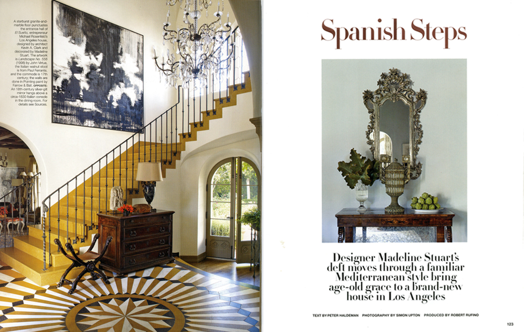 Architectural Digest Spanish Steps April 2011