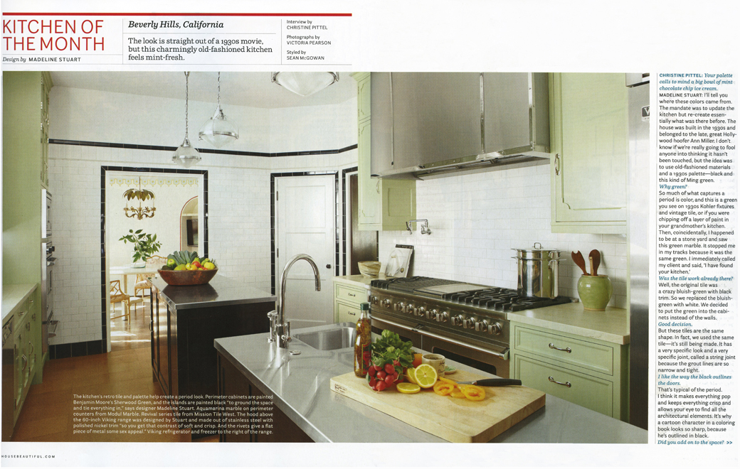 House Beautiful Kitchen Of The Month April 2011