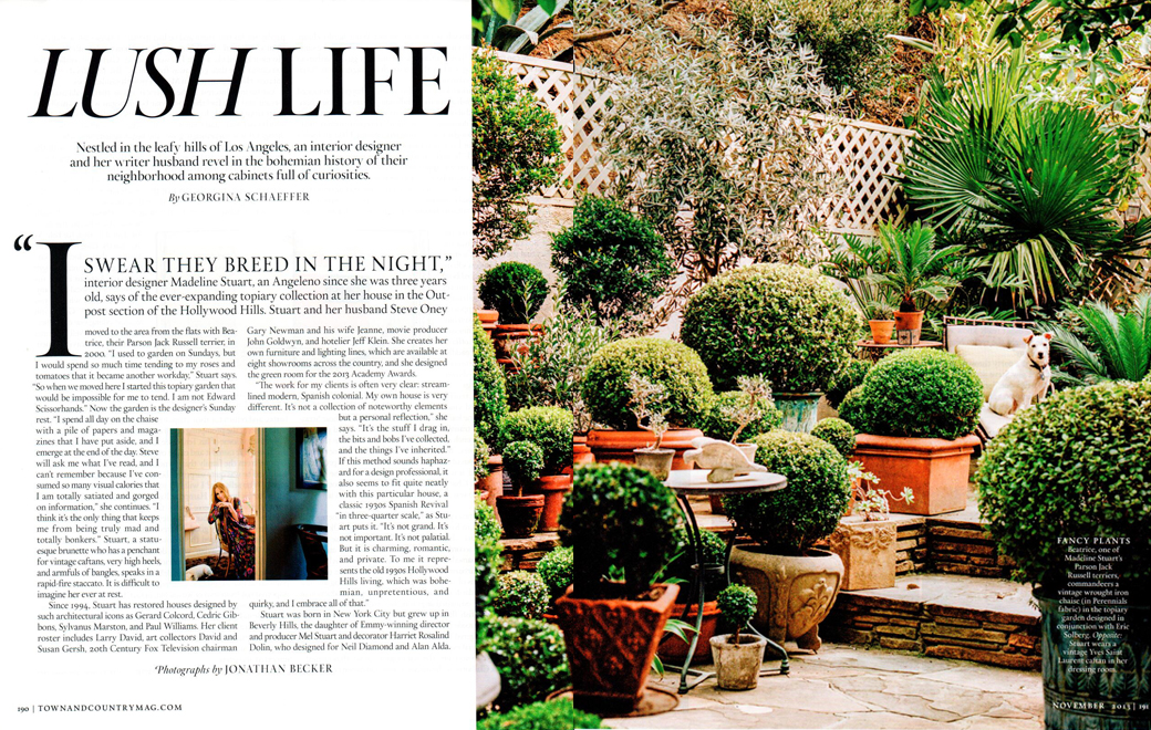 Town & Country Lush Life November 2013
