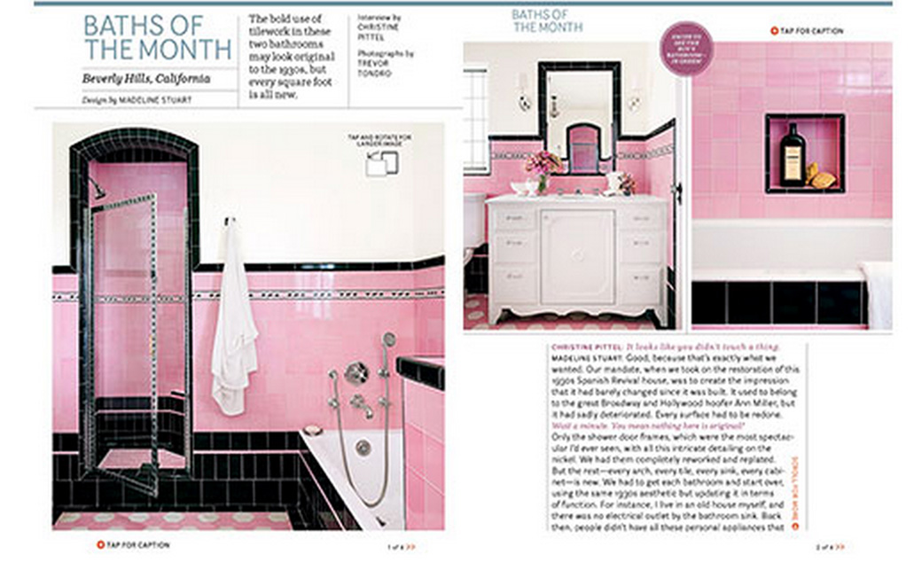 House Beautiful Baths of the Month May 2014
