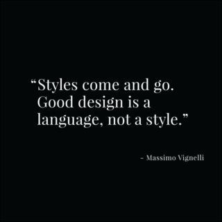 Vignelli quote