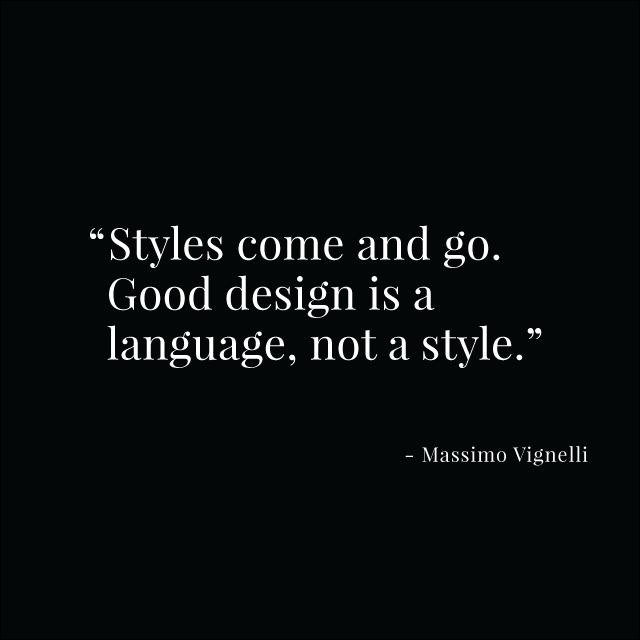 Vignelli quote