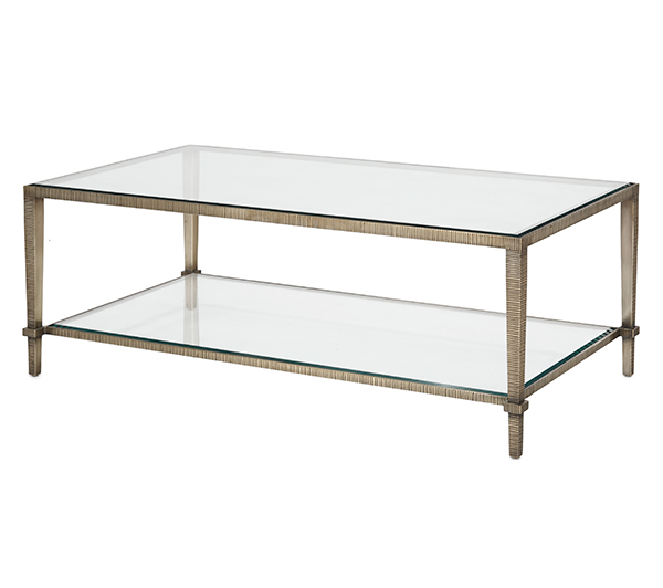 Linear Coffee Table Two Tiered Rectangular Madeline Stuart