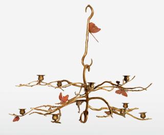 claude-lalanne-lustre-structure-vegetale-aux-papillons